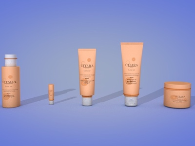 3D - cosmetic products cosmetics cream cinema4d branding 3d