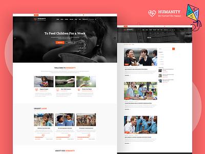 Humanity - Charity & Fundraising Design joomla template business donation humanity webdesigner web webdesign nonprofit ngo joomlatemplate joomlabuff joomla fundraising envatomarket ecommerce creative cms development