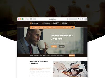 Statistic - Business Consulting Joomla Theme startup branding agency ui service finance business finance webdesign business ecommerce joomlabuff envatomarket joomla template joomla