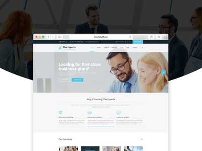 The Experts - Business Consulting Joomla Theme