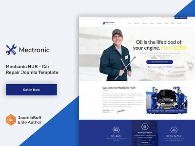 Mechanic HUB - Car Repair Joomla Template design web creative mechanic webdesign business envatomarket joomla template joomlabuff ecommerce joomla