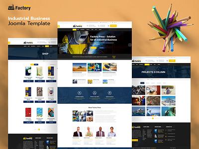 Factory Press Joomla Template architechture business web design joomla template envatomarket joomlabuff ecommerce webdesign joomla