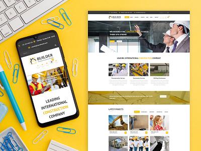 Builder - Construction Business Joomla Template handyman construction architectural design architechture business joomla template joomlabuff ecommerce webdesign joomla