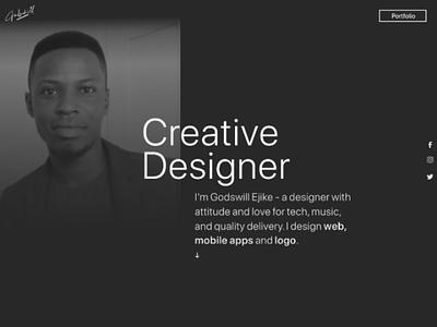 Mini portfolio landing page freelancer designer web page landing page figma photoshop adobe xd