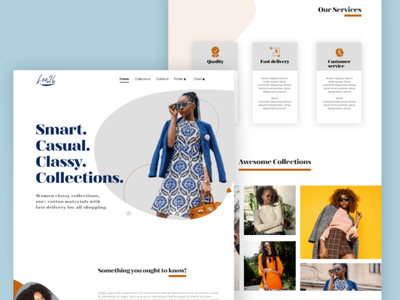 Full landing page fashion website uiux ux ui user interface adobe xd figma designer web design website