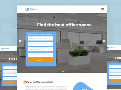 Office space office search freelancer ui design web design website uiux ui