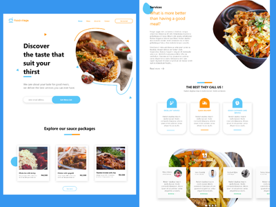 Food Web Design web design website figma clean design food website
