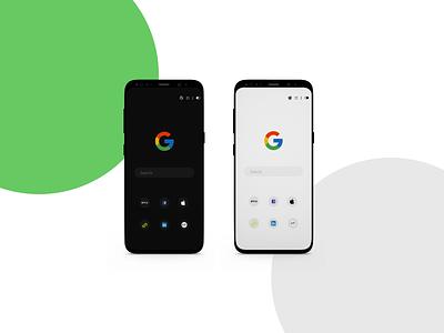 Redesigned Google mobile App uidesigner adobexd figma mobile app design uiinterface ui google design google mobile design mobile app