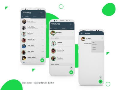 WhatsApp App redesigned freelance designer adobe xd webapp mobiledesign mobildapp mobildapp interactiondesign interaction figma adobexd whatsapp