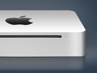 Mac mini design mac mini apple icon graphic (re)design aluminum sleek background design wip blue