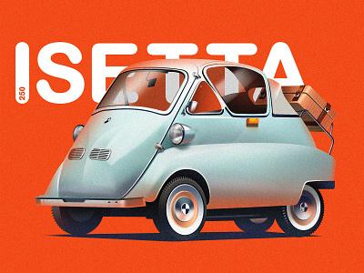 BMW Isetta car transportationillustration transportation carillustration cardesign illustration