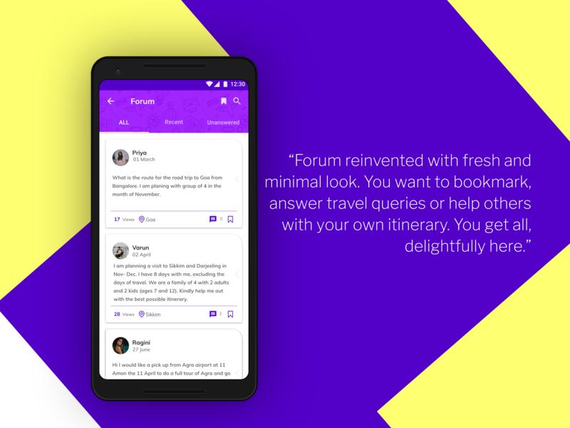 Travel Forum trips app user experience minimal itinerary @dribbble design adobexd travel app uxdesign uxui ux ui uidesign ucd adobe xd adobe