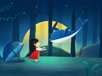 The whale and the little girl