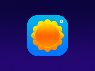 Weather Icon theme weather blue sun
