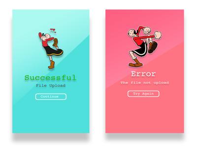 Success and error art design ux ui icon branding app