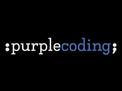 purplecoding logo typography india ui-designer branding logo first-shot