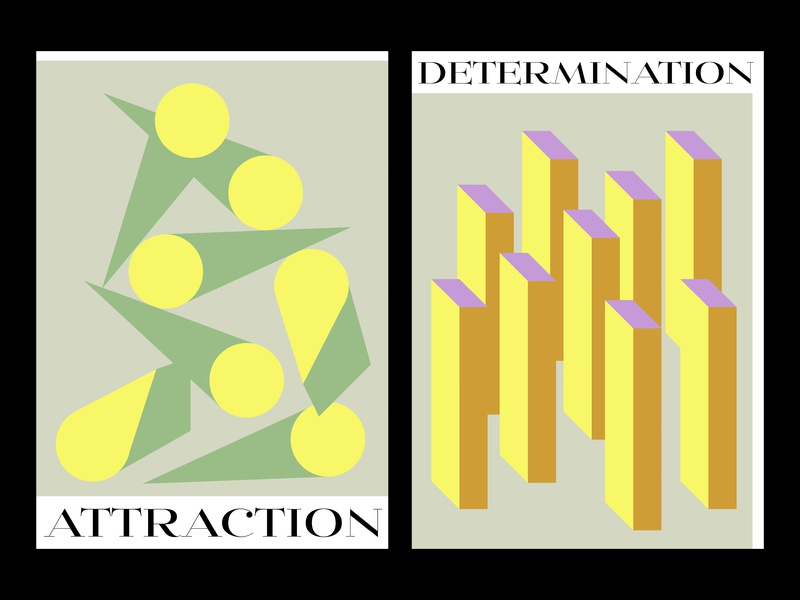 posters art geometic color flat illustration poster vector abstract simple design