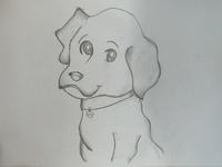 Cartoon Dog Puppy Drawing