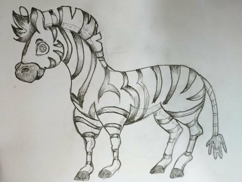 Cartoon Zebra Drawing By Mlspcart Dribbble Dribbble