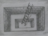 Hole 3D Ladder Drawing