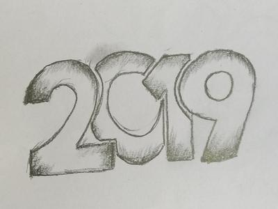 New Year 2019 Drawing Art