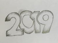 New Year 2019 Drawing Art
