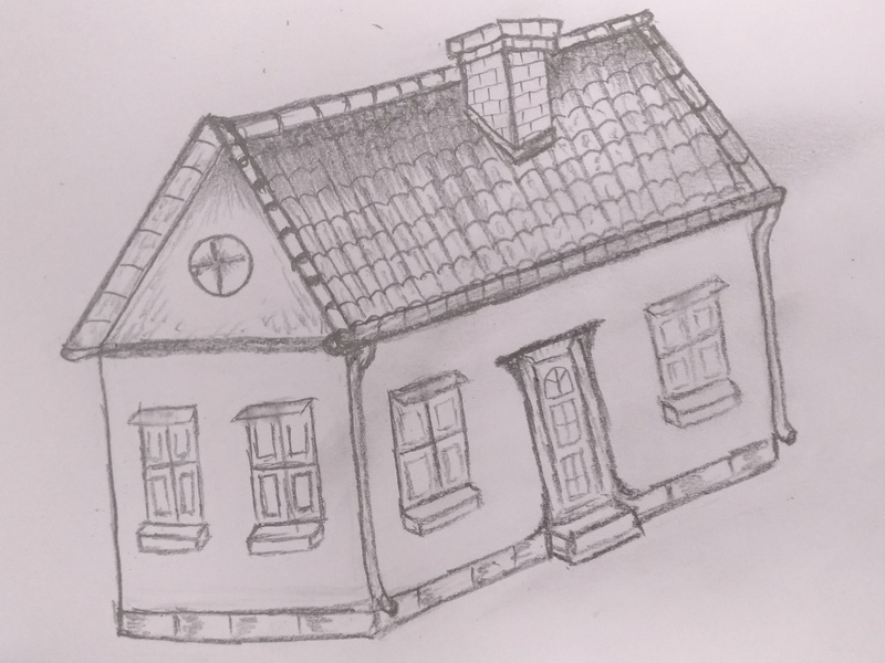 Draw a 3D House by MLSPcArt on Dribbble