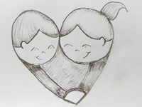 Love Couple Heart Art