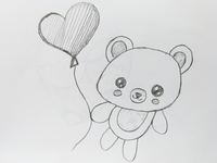Love Heart Bear Art