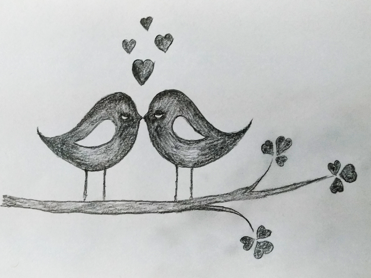 Love Birds Art By Mlspcart On Dribbble