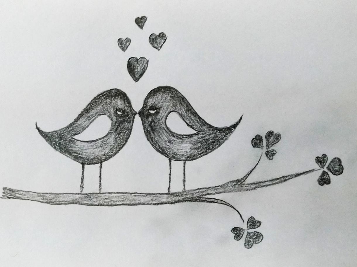 Love birds art by mlspcart on dribbble