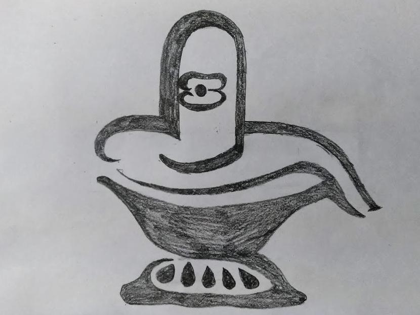 God Shiva Lingam Drawing By Mlspcart On Dribbble