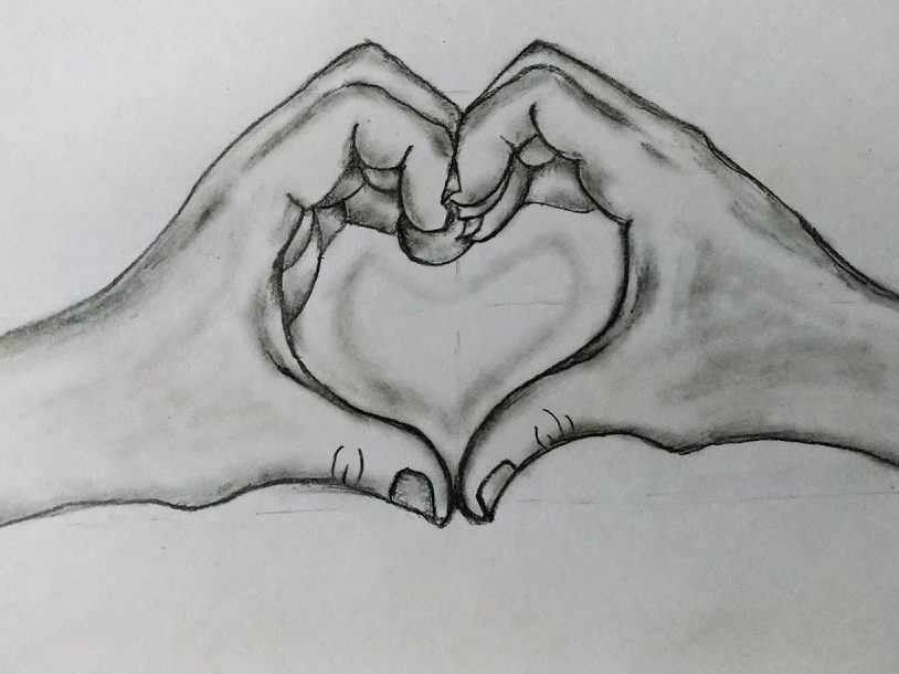 Valentine Day Heart Drawing by MLSPcArt on Dribbble
