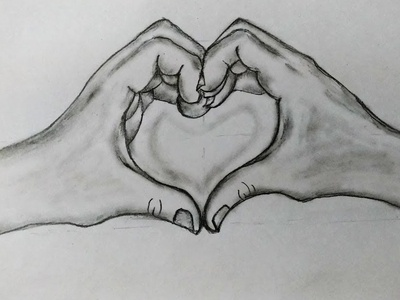 Valentine Day Heart Drawing