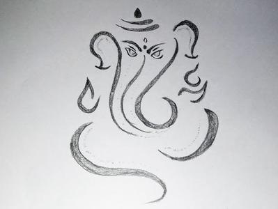 God Ganesha Drawing By Mlspcart On Dribbble