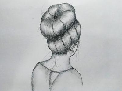 Messy Bun Hair Art