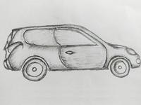 Old Realistic Car Art