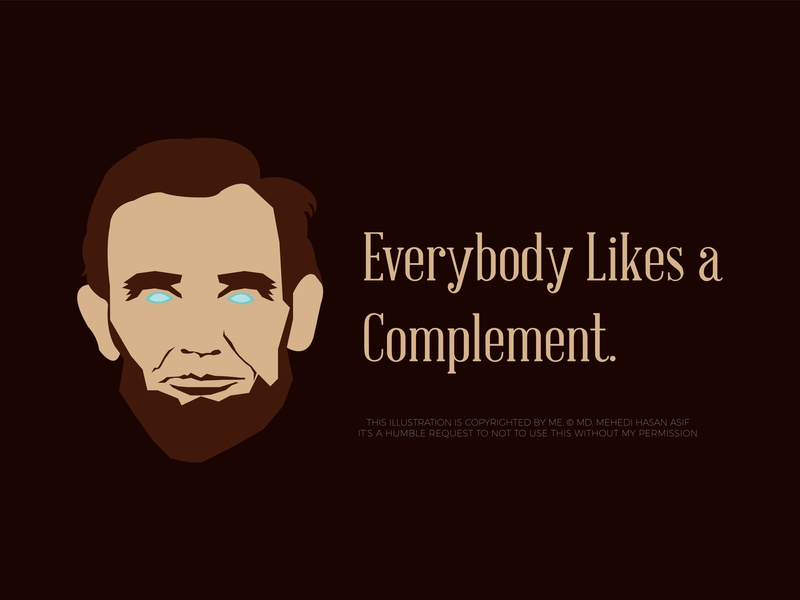 Abraham Lincoln illustration and quote