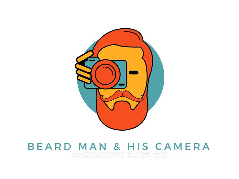 Beard man and his camera