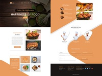 Restaurant Web Template (Home Page)
