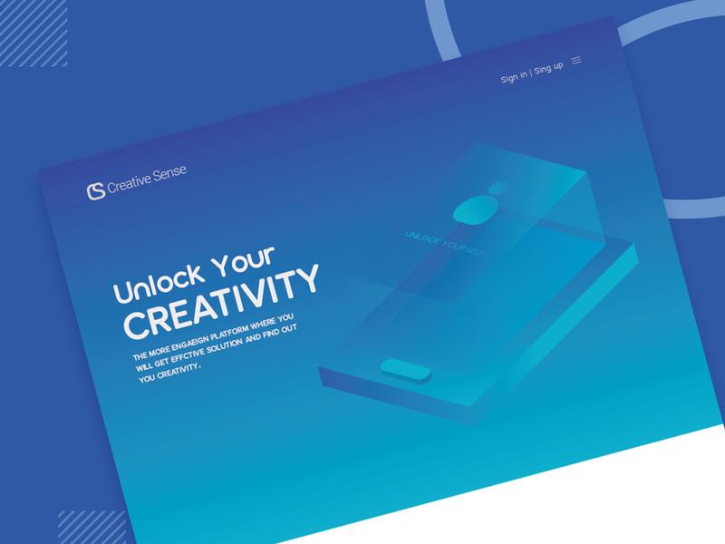 Creative Sense Web Template web template ux design ui design web design