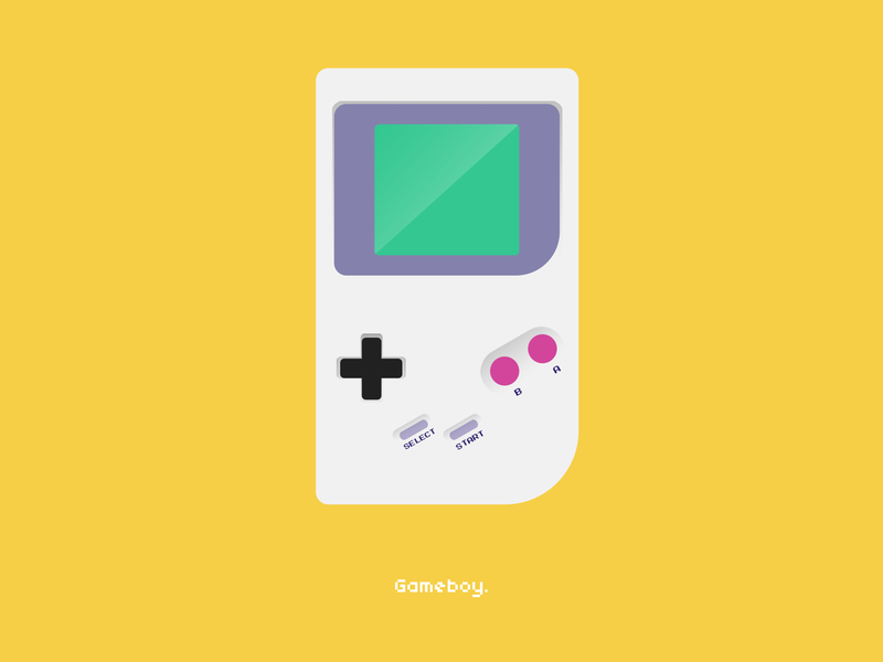 Gameboy Dribble gameboy color game art minimal flat  design flat gaming game gmaeboy elegant dribbble creative vector illustration gradient design clean