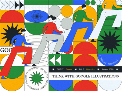 Think With Google Illustrations colorful google design web illustration 2d character
