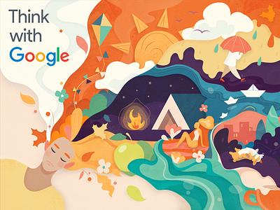Autumn mood flat design flat illustrator graphicdesign digitalart web vector google autmn character 2d illustrator