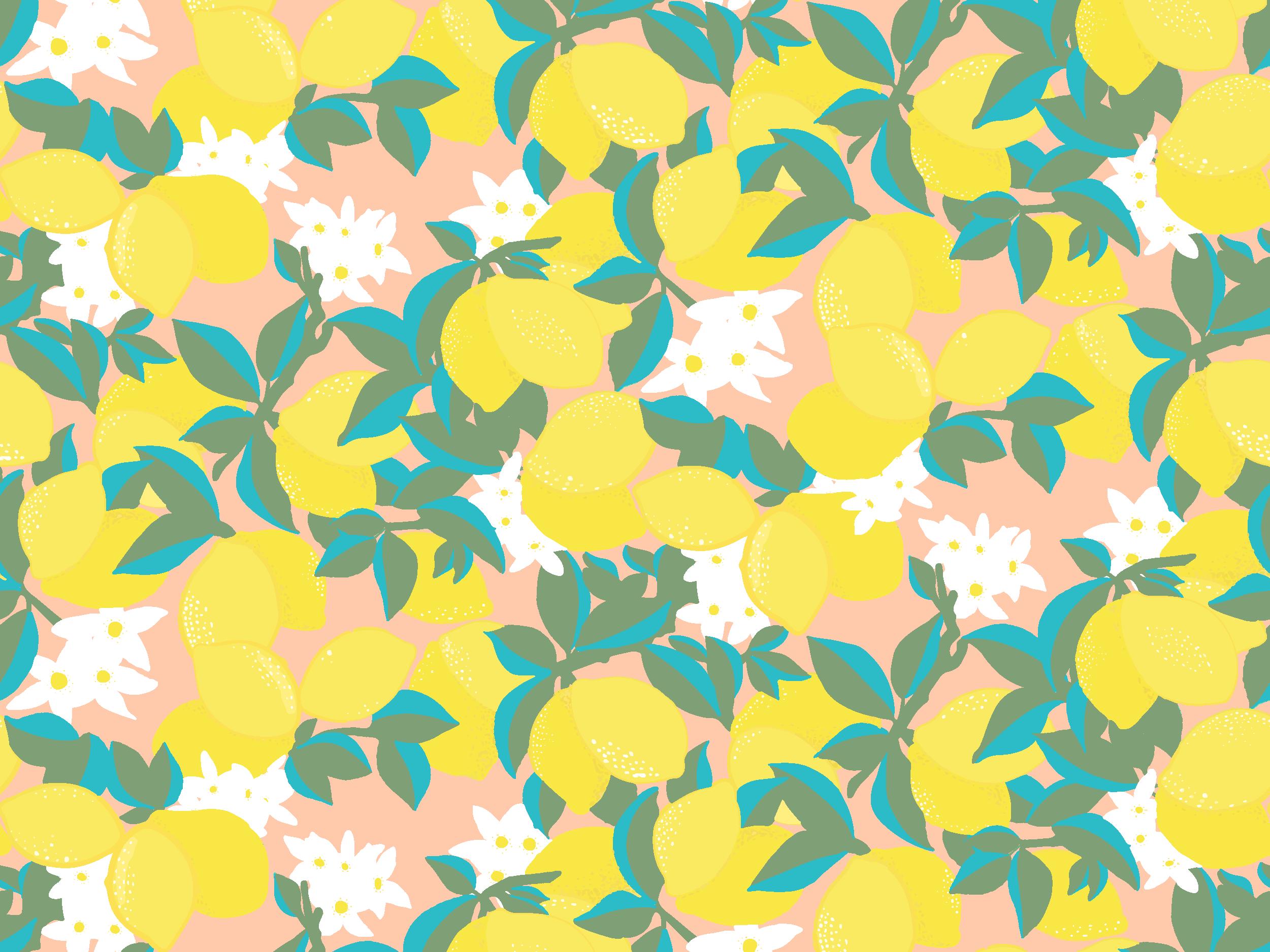 Lemon repeat pattern by Melanie Hodge on Dribbble