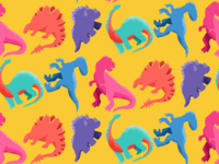Colorful Dinos repteat pattern