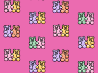 Gummy Friends Pattern