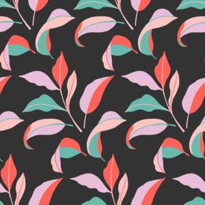 Colorblock Leaves Pattern