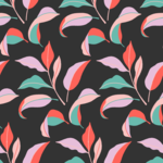 Colorblock Leaves Pattern