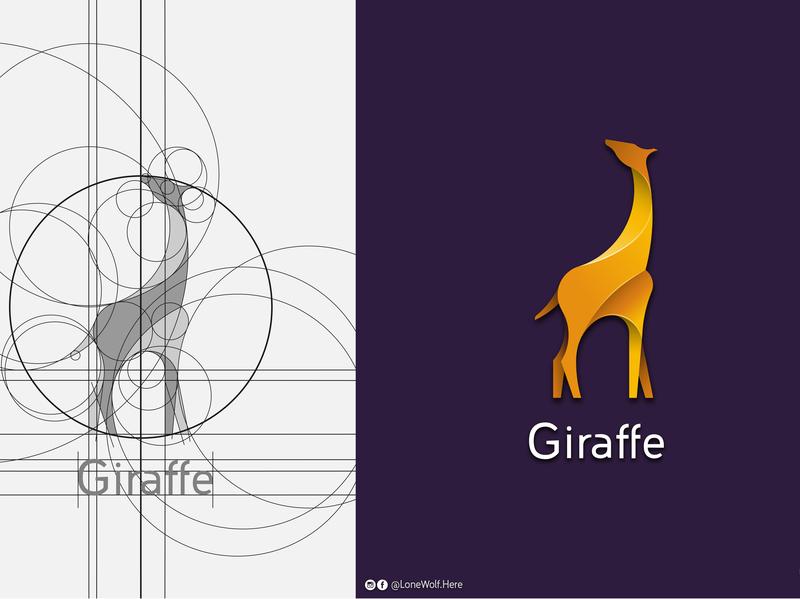 Giraffe graphic designer gradient logo giraffe logo giraffe app app logo illustration vector graphic design logo graphic art golden ratio logo golden ratio creative logo branding color brand brand agency logo deisgn logo app logo